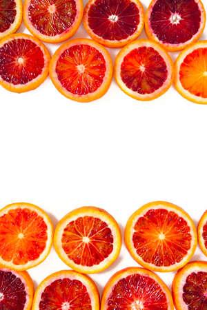 blood orange slices isolated on white Stock Photo
