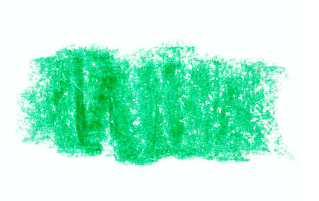 green crayon paint banner