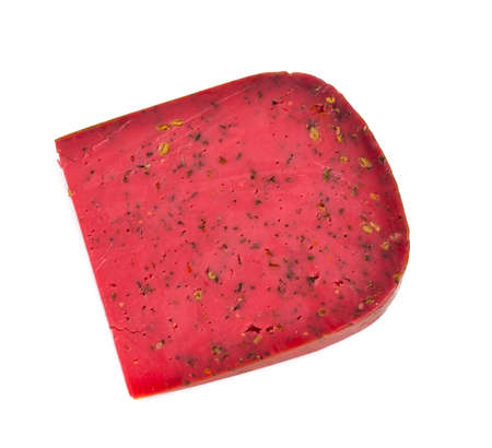 red cheese isolated