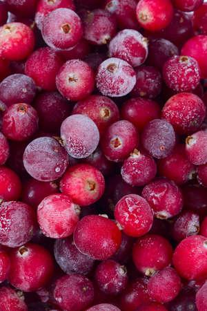 Frozen cranberries isolated Banque d'images - 112402556