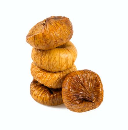 Dried figs isolated on white Archivio Fotografico