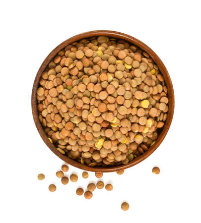 Lentils isolated on white Stock Photo