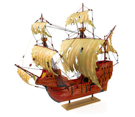 ship model isolated on white