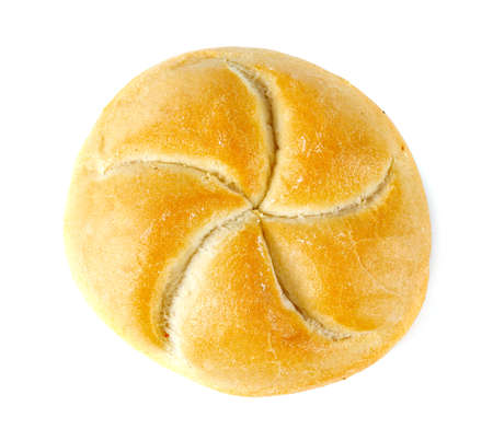 kaiser bun isolated on white