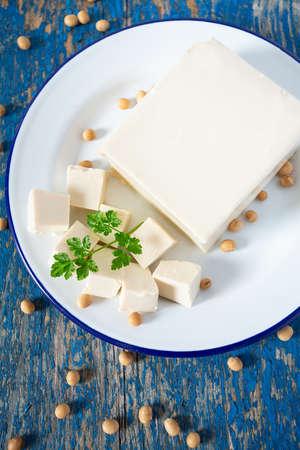 fresh tofu cheese Stok Fotoğraf