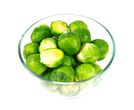 Brussels cabbage on a white background