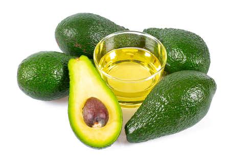 avocado oil isolated on white Standard-Bild - 123556448
