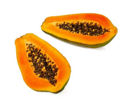 papaya isolated on white background Standard-Bild - 124532075