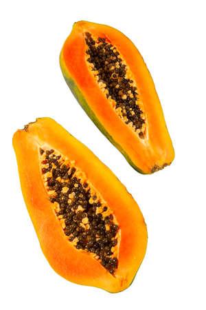 papaya isolated on white background Standard-Bild - 124532096