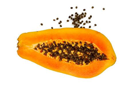 papaya isolated on white background Standard-Bild - 124532259