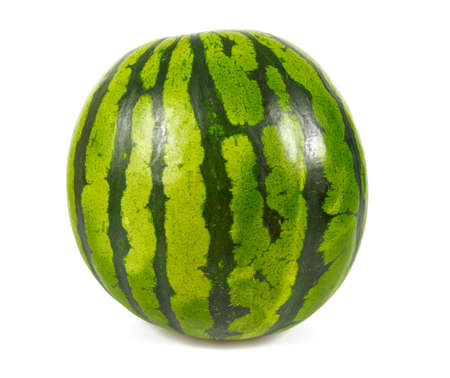 Melon d'eau isolé sur blanc Banque d'images