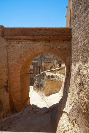 beautiful old castle street in one of spanish castles