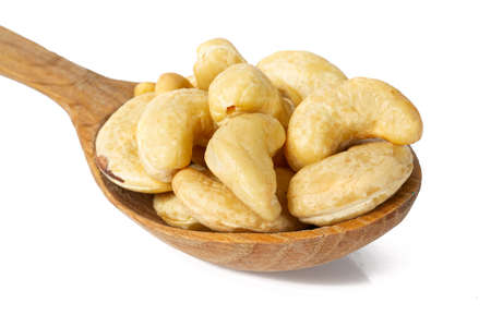 raw cashew isolated on white