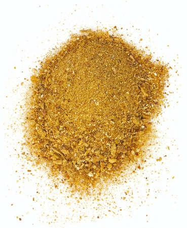 dried boletus edulis powder isolated on white background Фото со стока