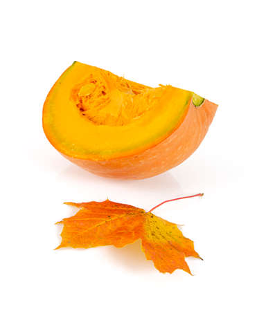 raw pumpkin isolated on white