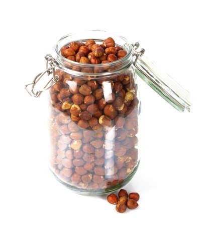 hazelnuts isolated on white background Standard-Bild - 133207563