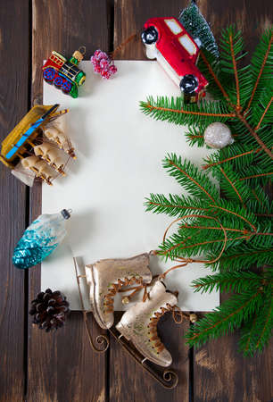 Christmas decoration and empty space for your text