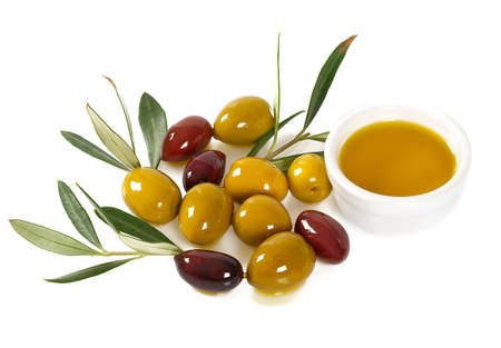 tasty olives isolated on white background