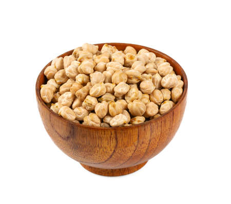 dried chickpeas isolated on white