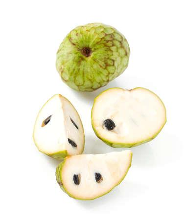 annona fruit isolated on white background
