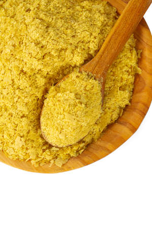 nutritional yeast flakes isolated on white background Stock Photo