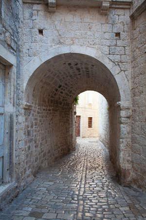 street of old Croatian town Trogir