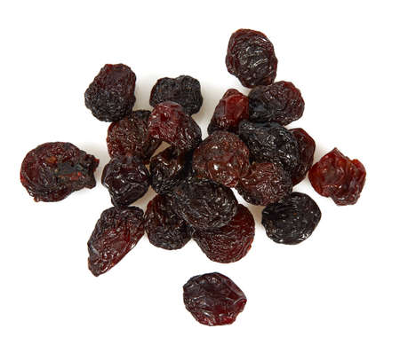 Raisins isolated on white background. Healthy food, isolated objects.