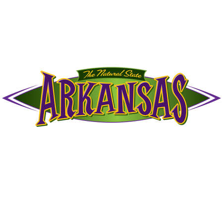 Arkansas The Natural State Ilustracja