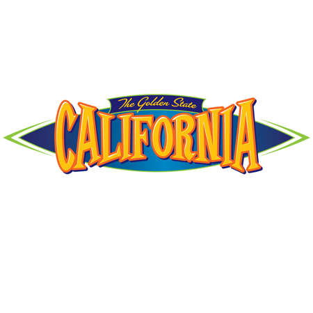 California The Golden State Ilustracja