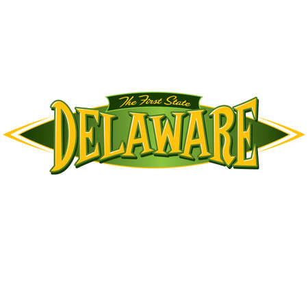 Delaware The First State Illustration