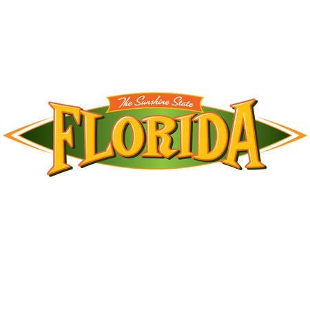 Florida The Sunshine State Ilustracja