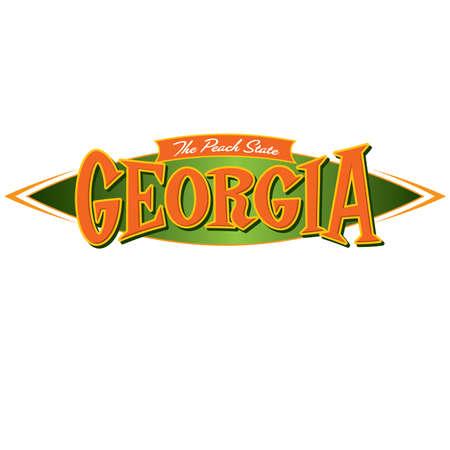 Georgia The Peach State Vectores