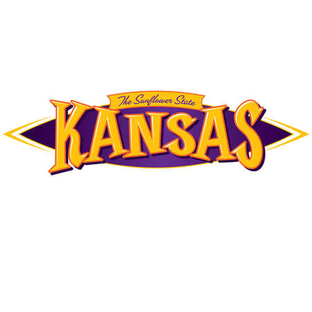 Kansas The Sunflower State Ilustracja