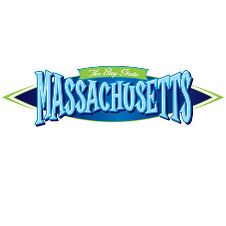 Massachusetts The Bay State Ilustracja