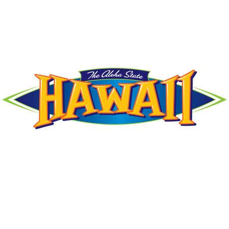 El estado de Hawaii Aloha Foto de archivo - 40888420