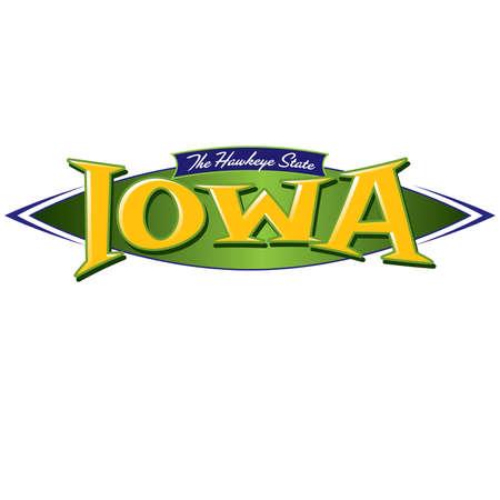Iowa The Hawkeye State Ilustração