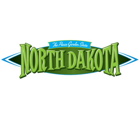 social history: North Dakota The Peace Garden State Illustration