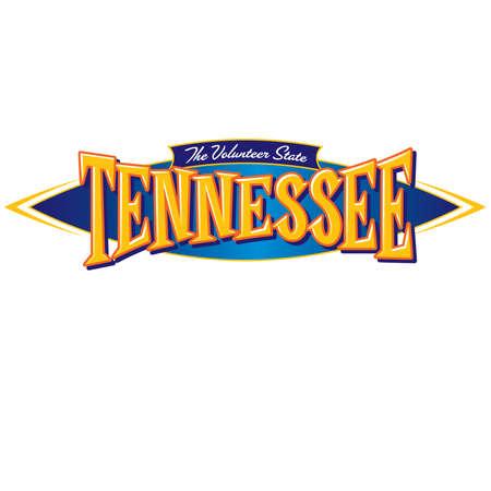 tennesse: Tennessee el estado voluntario Vectores
