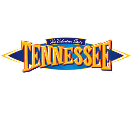 Tennessee The Volunteer State Ilustracja