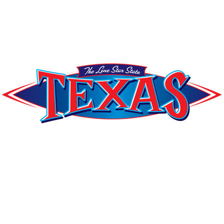 Texas The Lone Star State Illustration