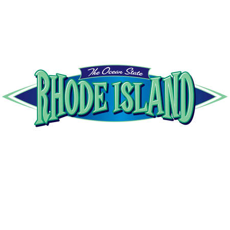 Rhode Island The Ocean State Ilustrace