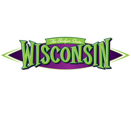 Wisconsin The Badger State Ilustracja