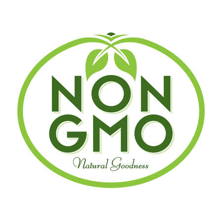 Non GMO Natural Goodness Vector Illustration Graphic Oval Symbol Typographic