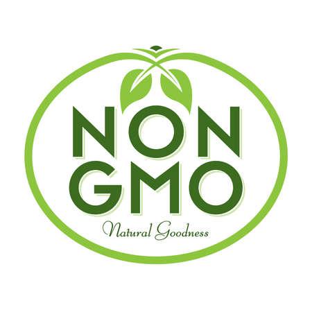 Non GMO Natural Goodness Vector Illustration Graphic Oval Symbol Typographic