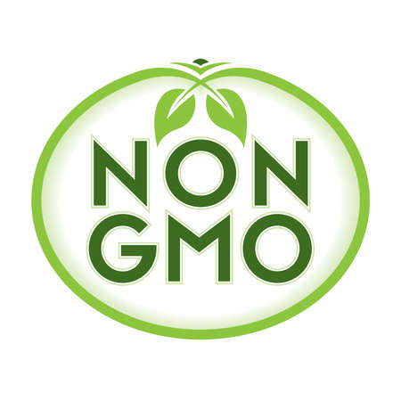 Non GMO Vector Illustration Graphic Oval Symbol Typographic
