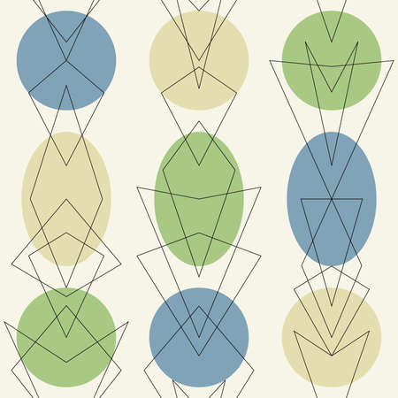 Artistic retro Atomic 1950s Mid Century Vintage Background.