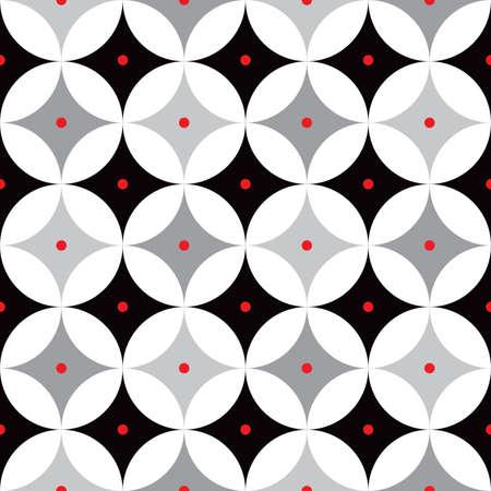 Rétro arrière-plan atomique des années 1950 au milieu du siècle Vecteurs