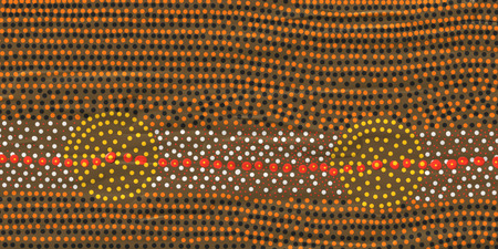 オーストラリア先住民のアートの roundels