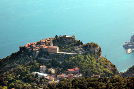 Te: Eze, French Riviera, côte dazur, France, village, landscape, mediterranean, sea, water, countryside, fortified village, medieval village,