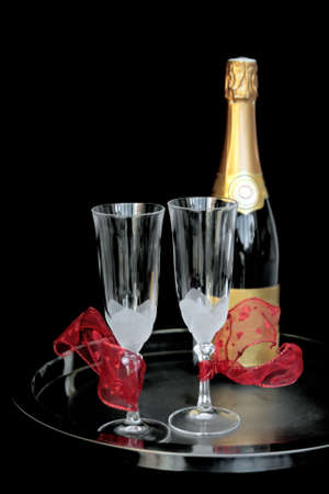 Champagne for two (in love) Stock Photo